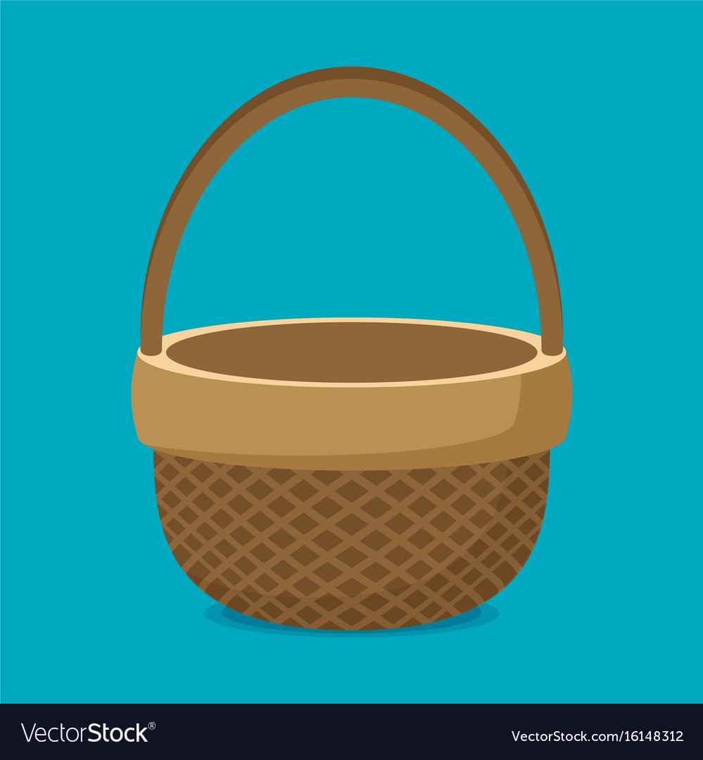 Flat basket icon isolated on color background vector image