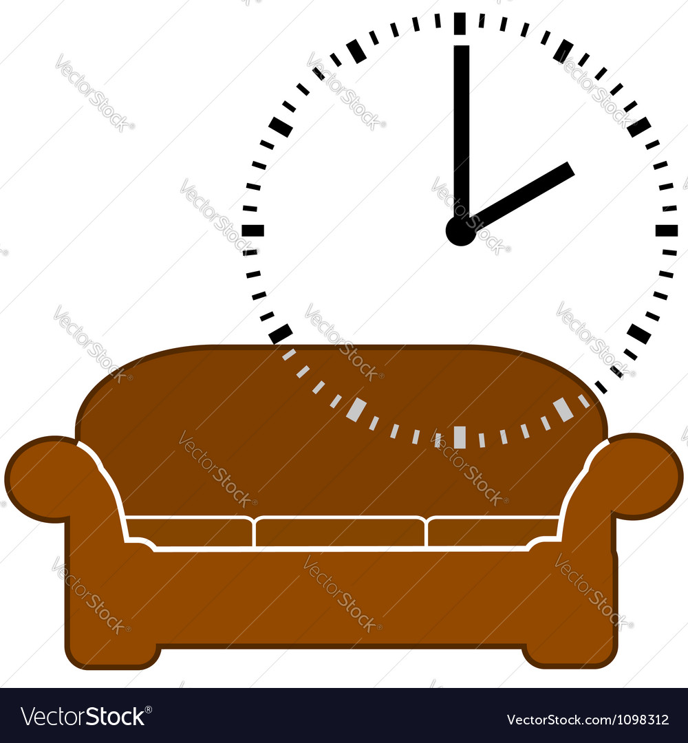 Nap time vector image
