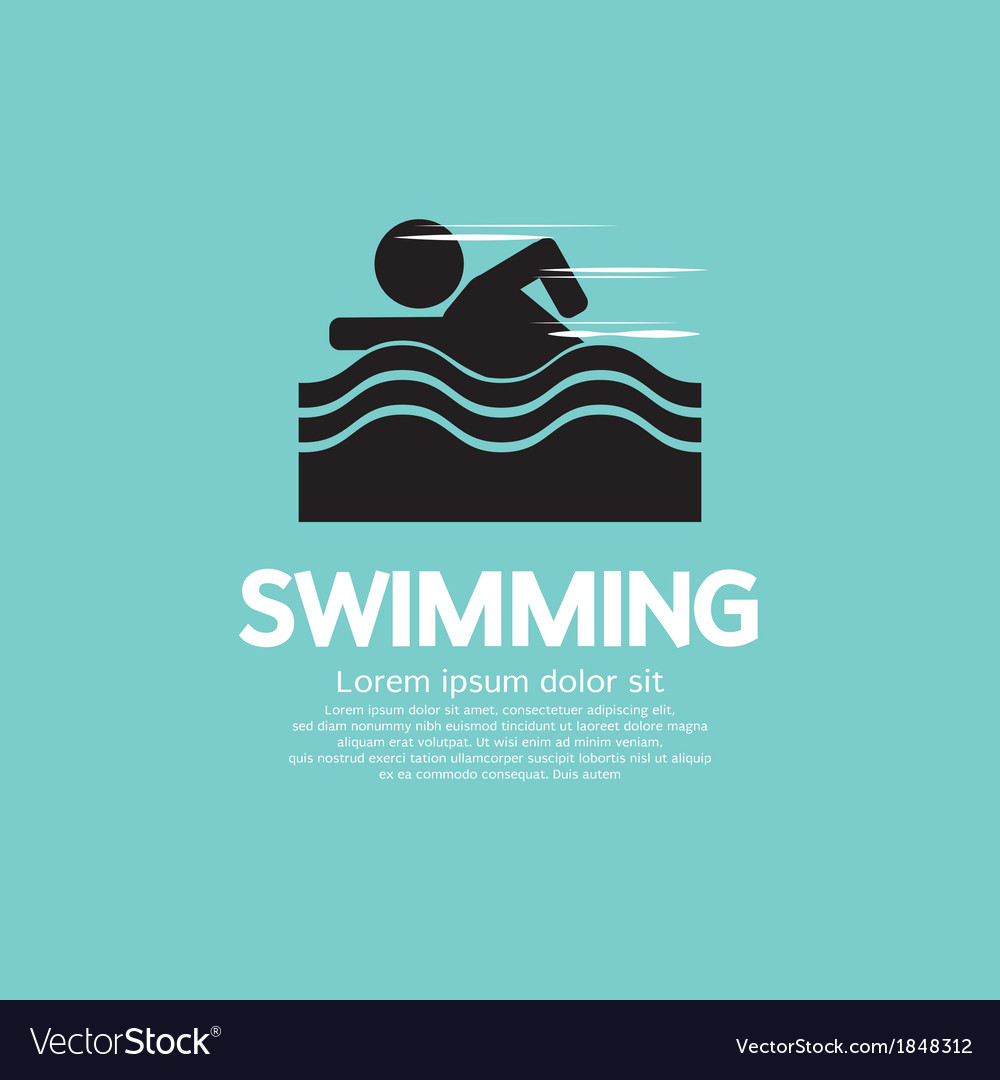 Swimming EPS10 vector image