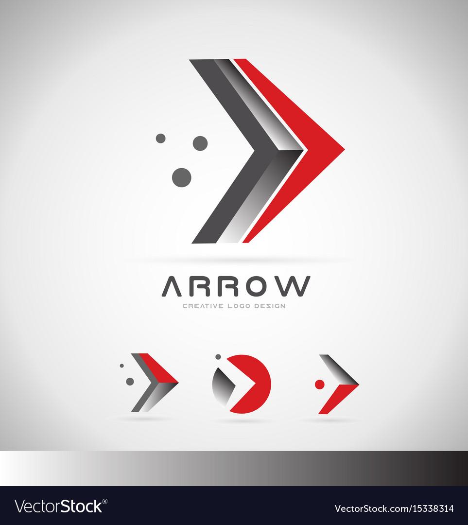 Arrow forward concept logo icon design vector image