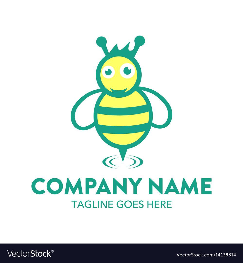 Bee logo-13 vector image