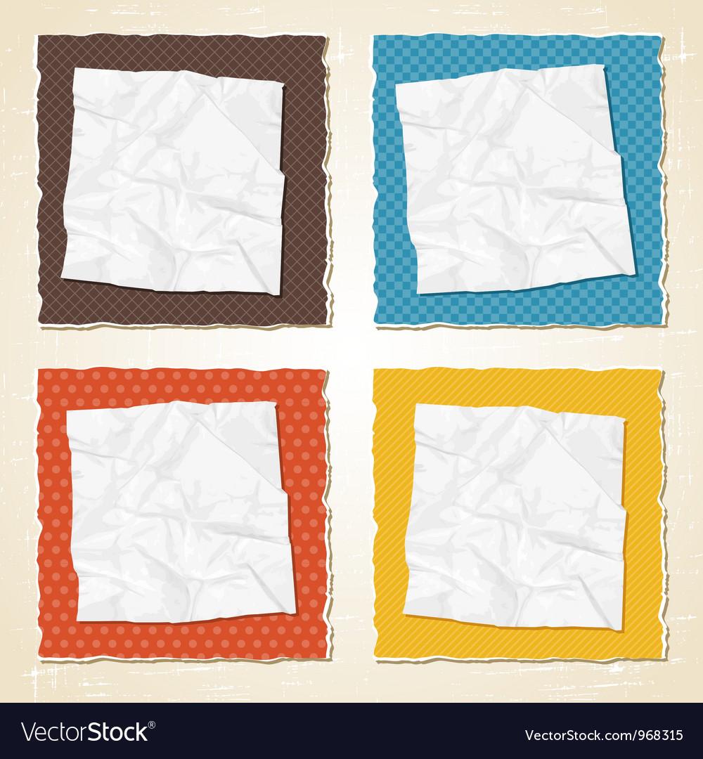 Vintage Torn Paper Background vector image