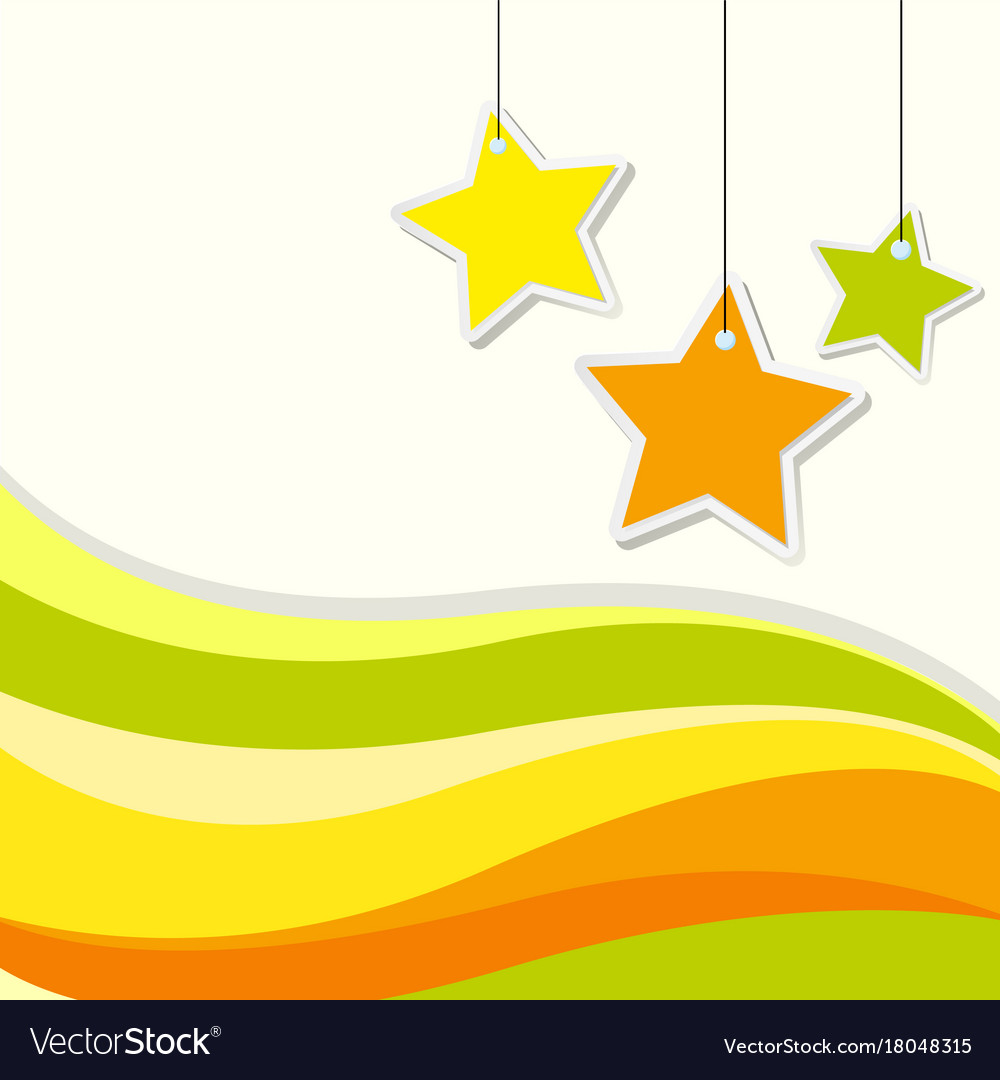 Background design with stars and yellow wavy lines for Yellow Vector Graphics Design Background  45hul