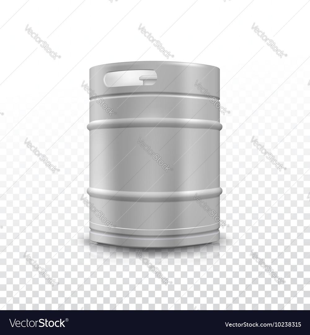 Metal beer keg with grained vector image