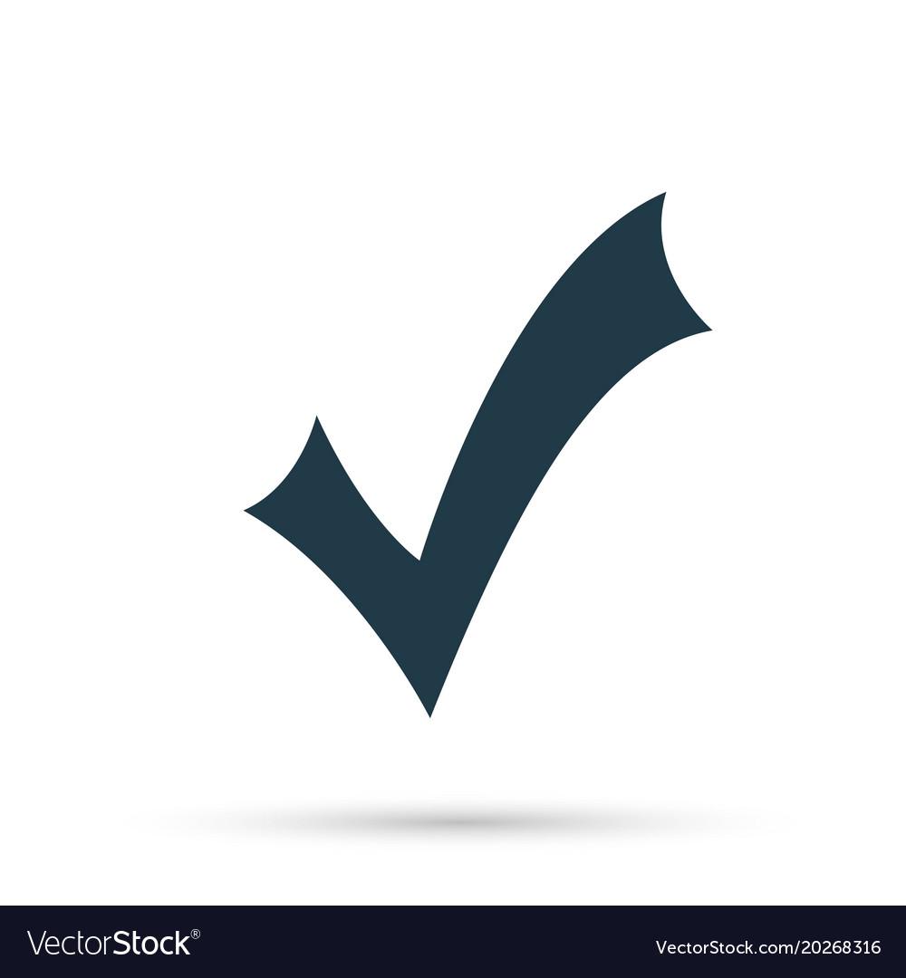 Black check mark icon tick symbol in black color vector image biocorpaavc Image collections