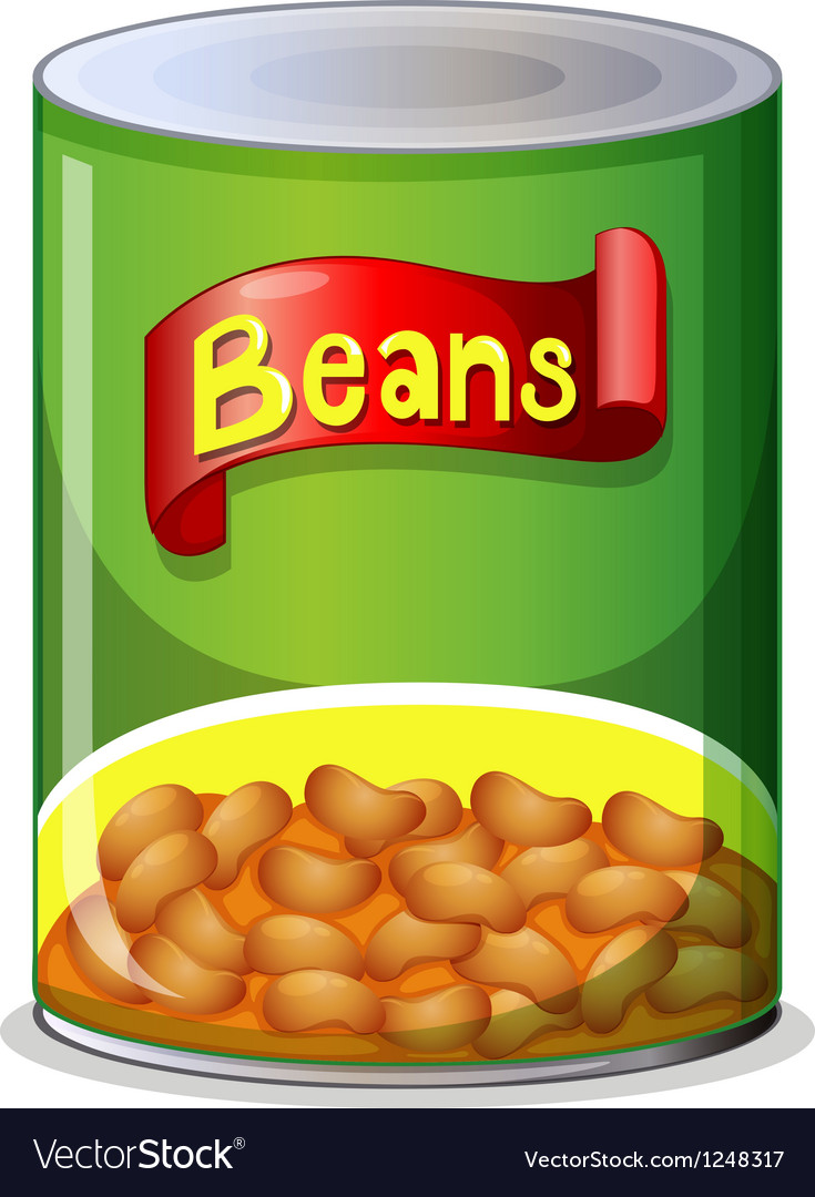 A can of beans vector image