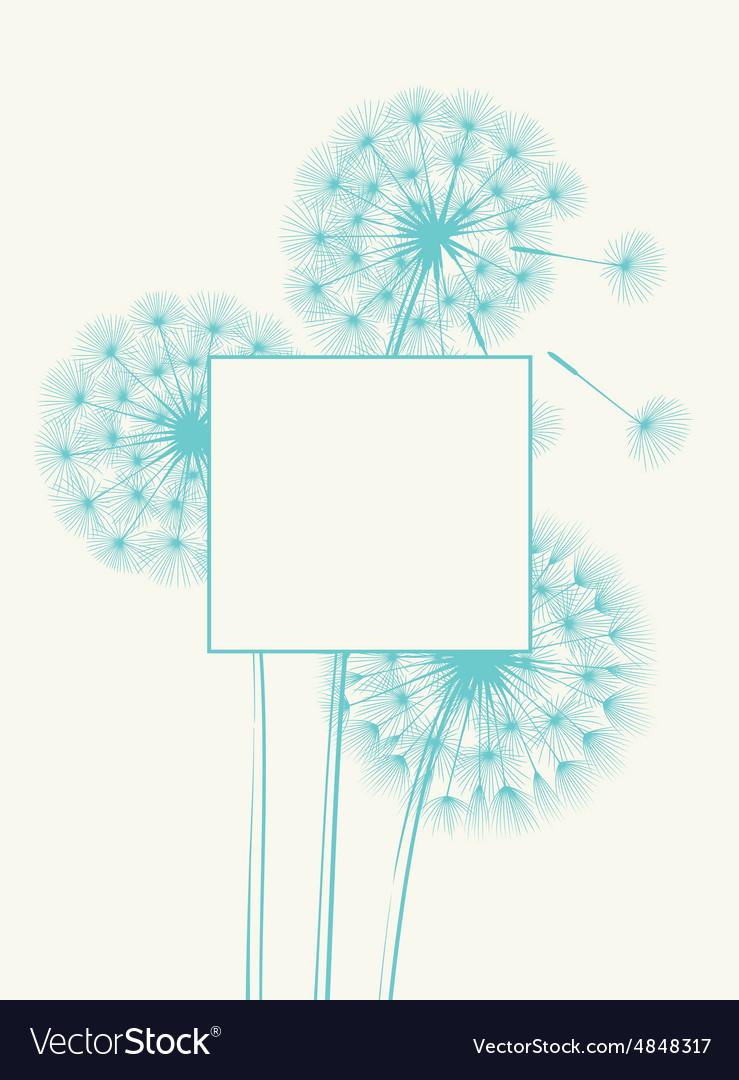 Blow dandelion concept vector image