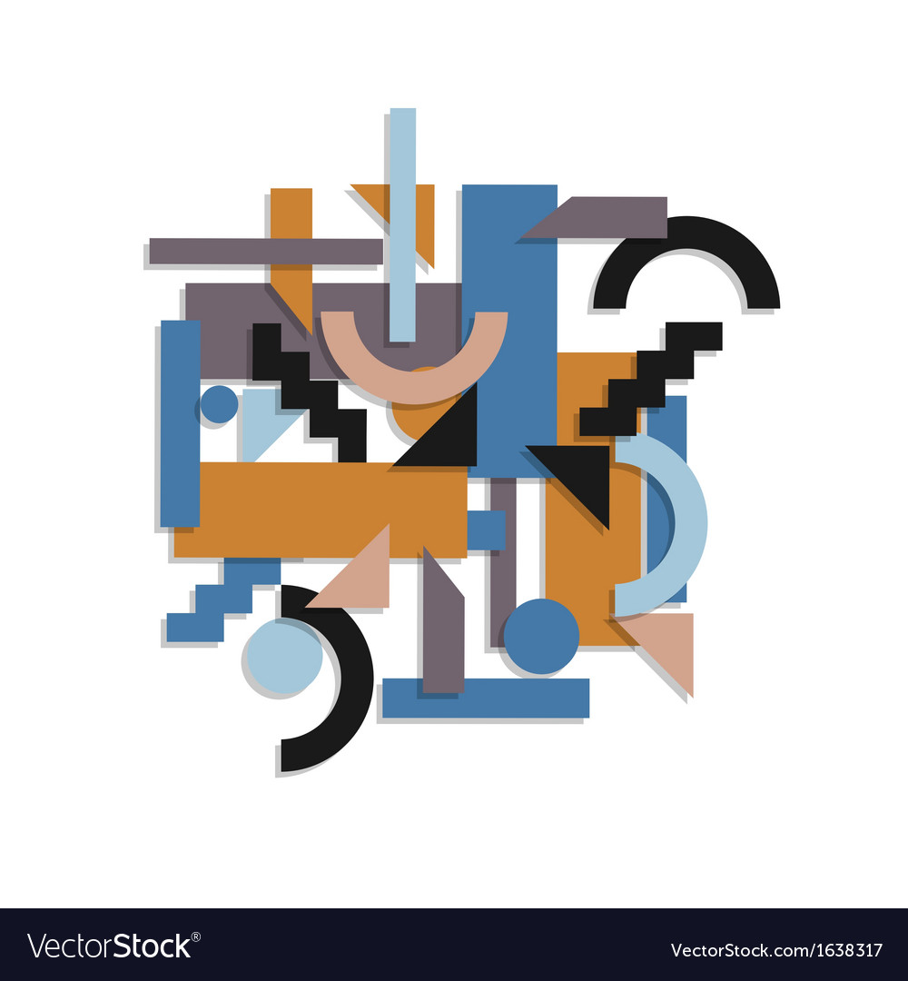 Paper geometric background in cubism style vector image