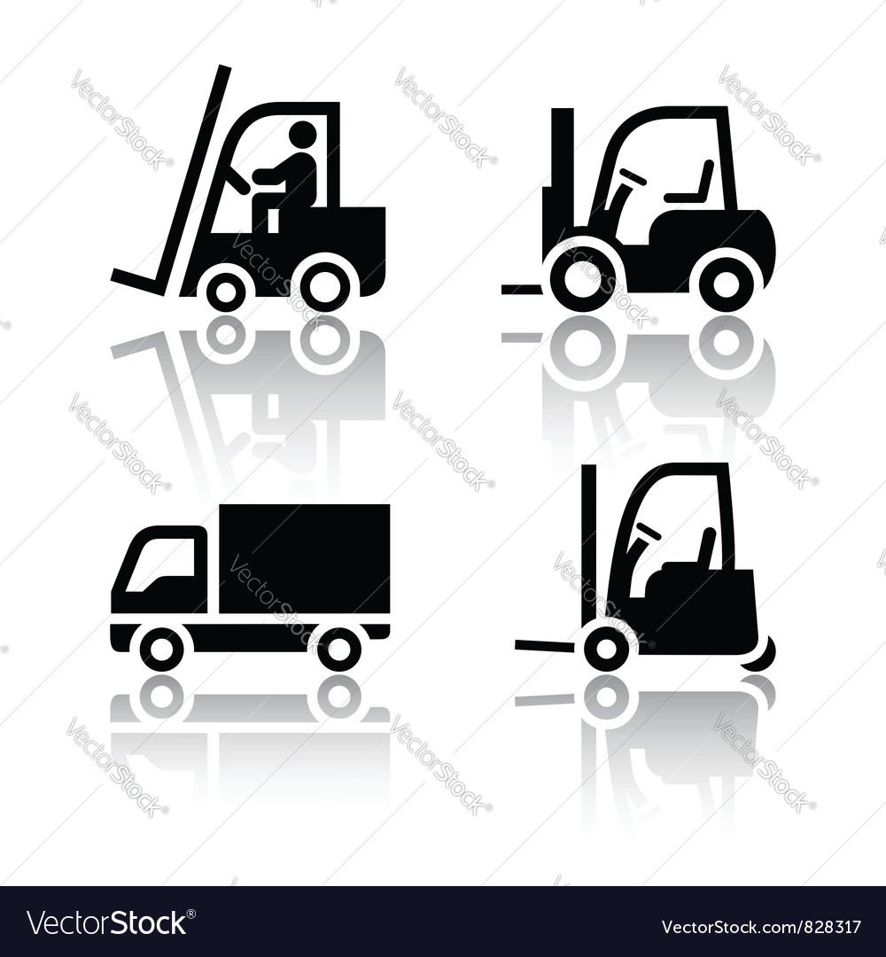 Set of transport icons - loader vector image