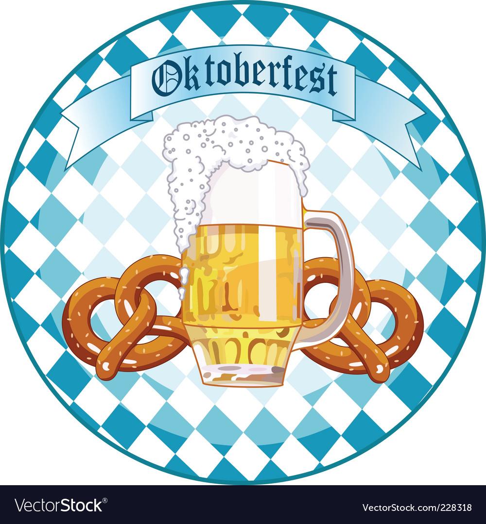 Oktoberfest celebration round design vector image