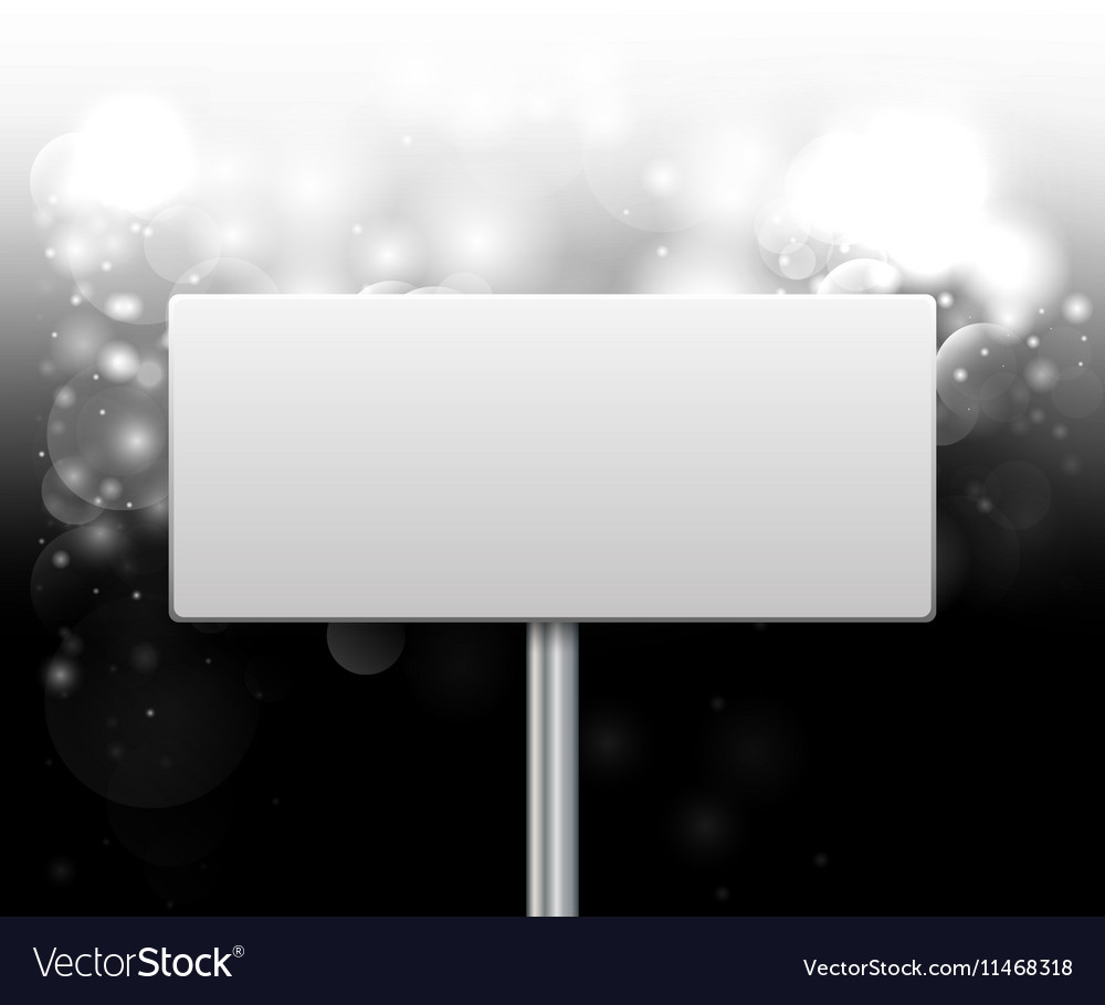 Empty label on a dark background vector image