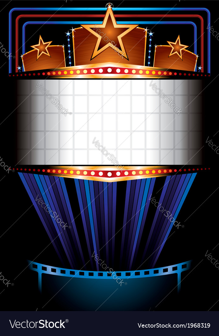 Cinema poster vector image