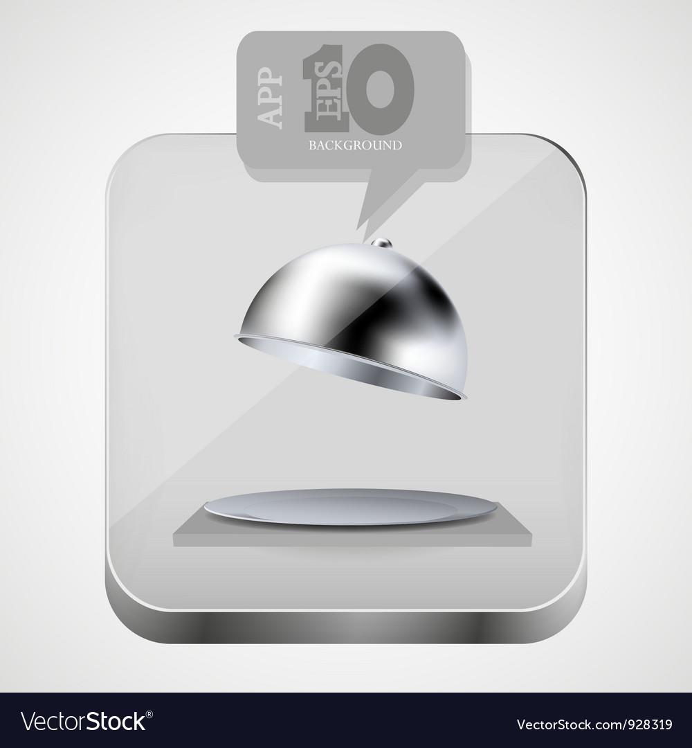 Open tray app icon vector image