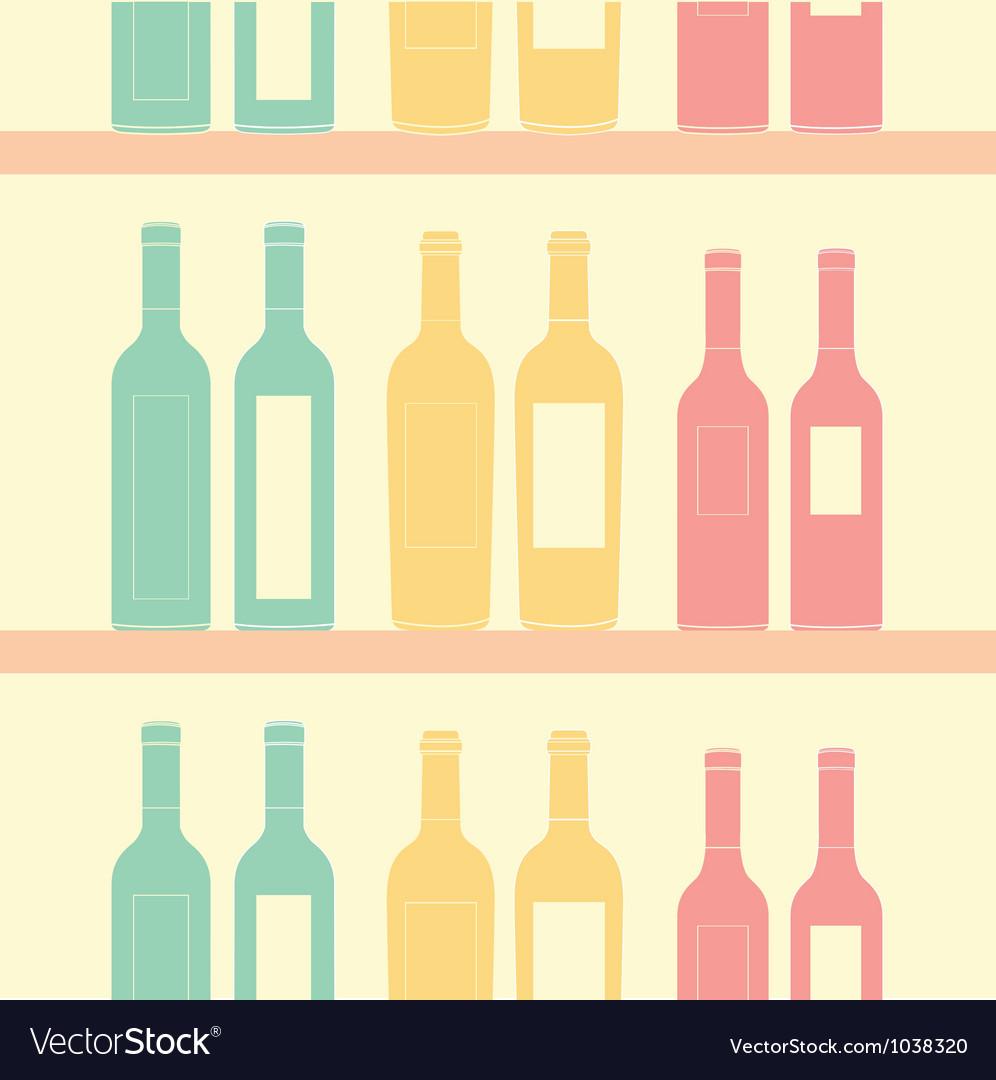 Seamless wine pattern soft vintage vector image