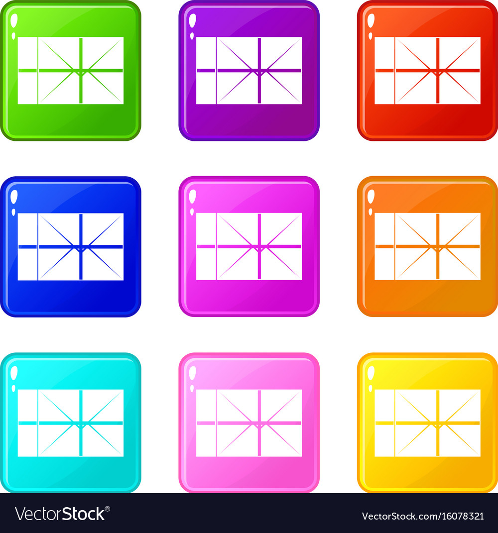 Postal parcel set 9 vector image