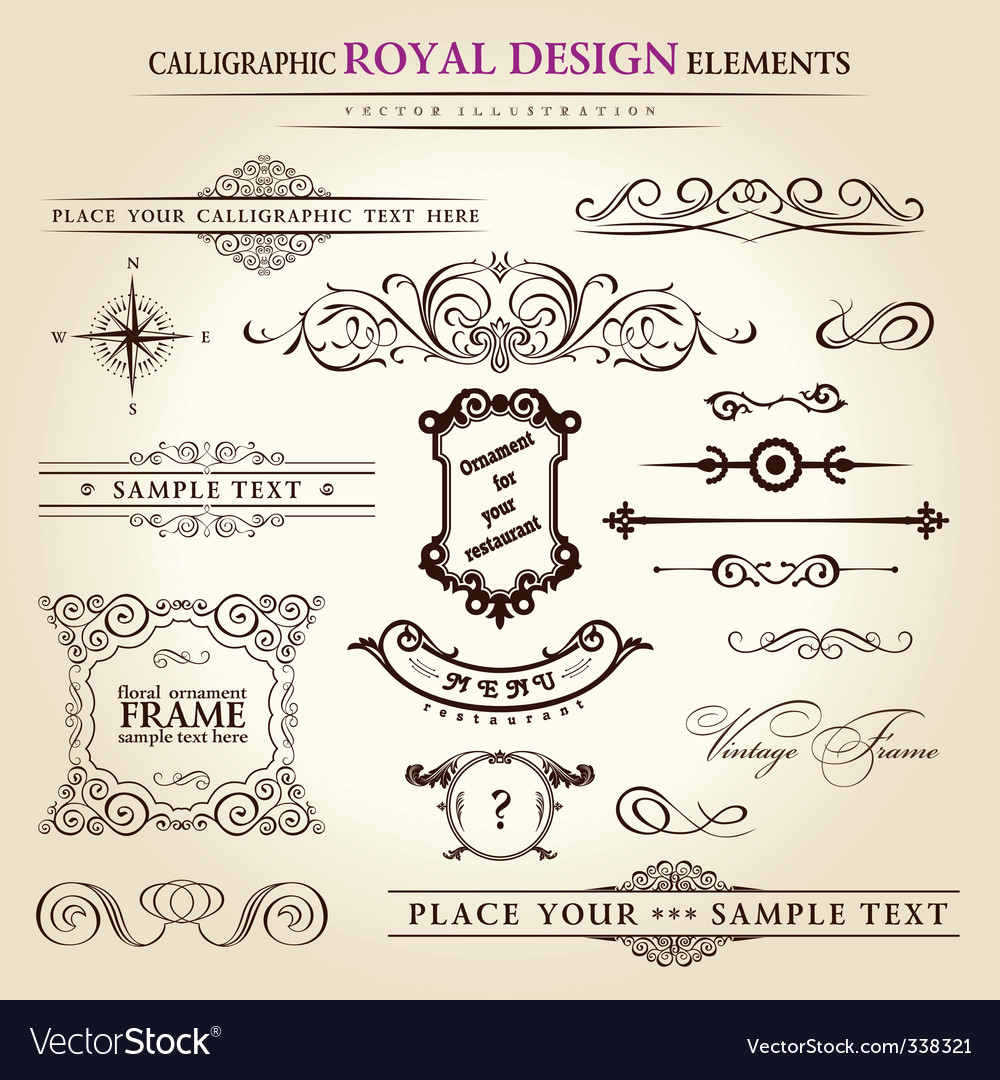 Antique Calligraphy: Vintage Calligraphy Royalty Free Vector Image