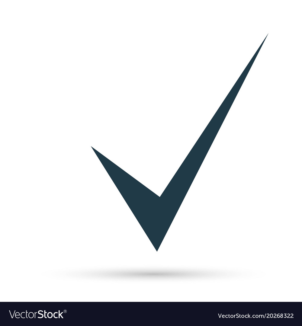 Black check mark icon tick symbol in black color vector image buycottarizona Images