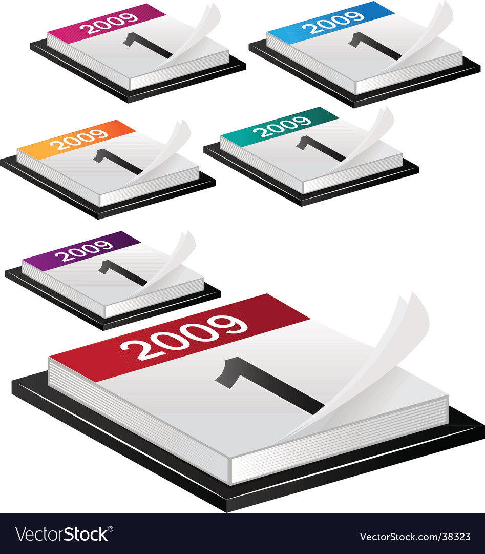 Calendars 2009 icons set vector image