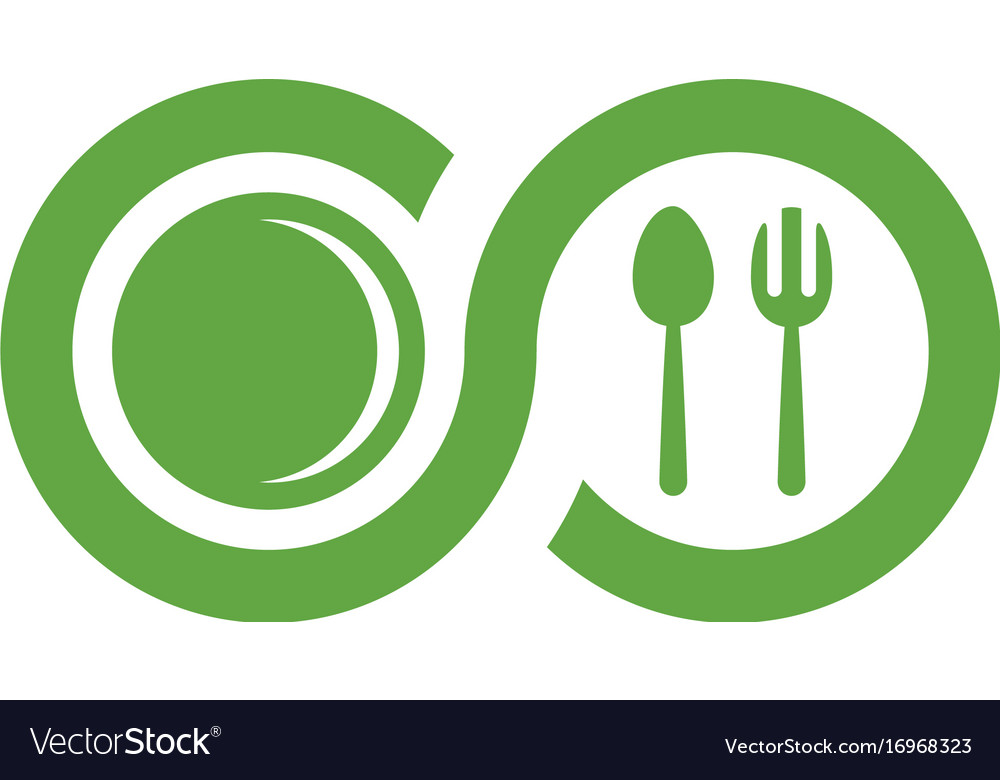 Food logo template vector image