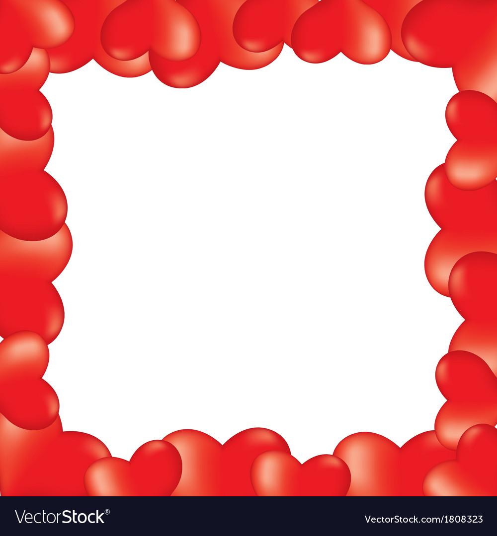 Heart 3d border vector image