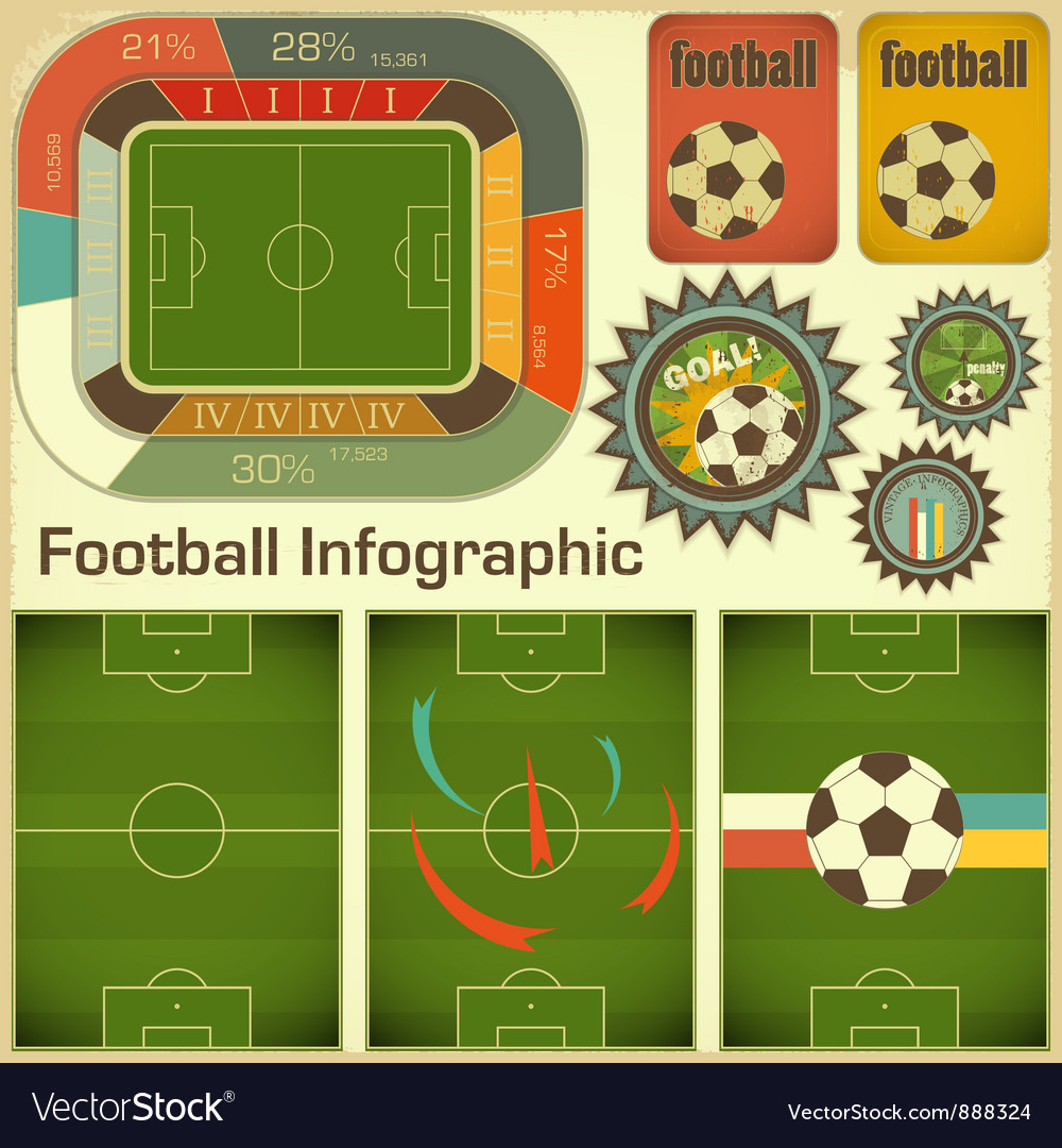 Football Infographic Elements Vector Image