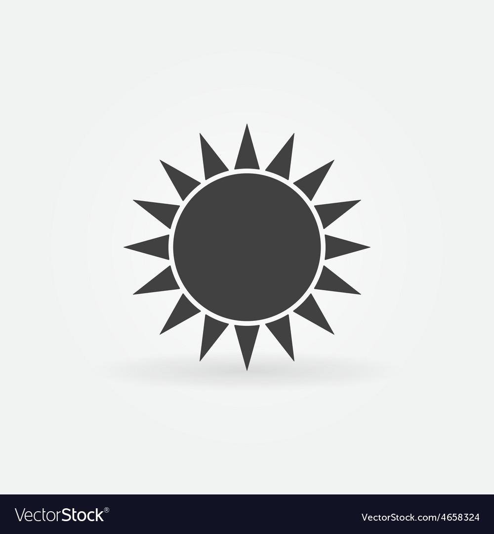 Black sun logo or icon vector image