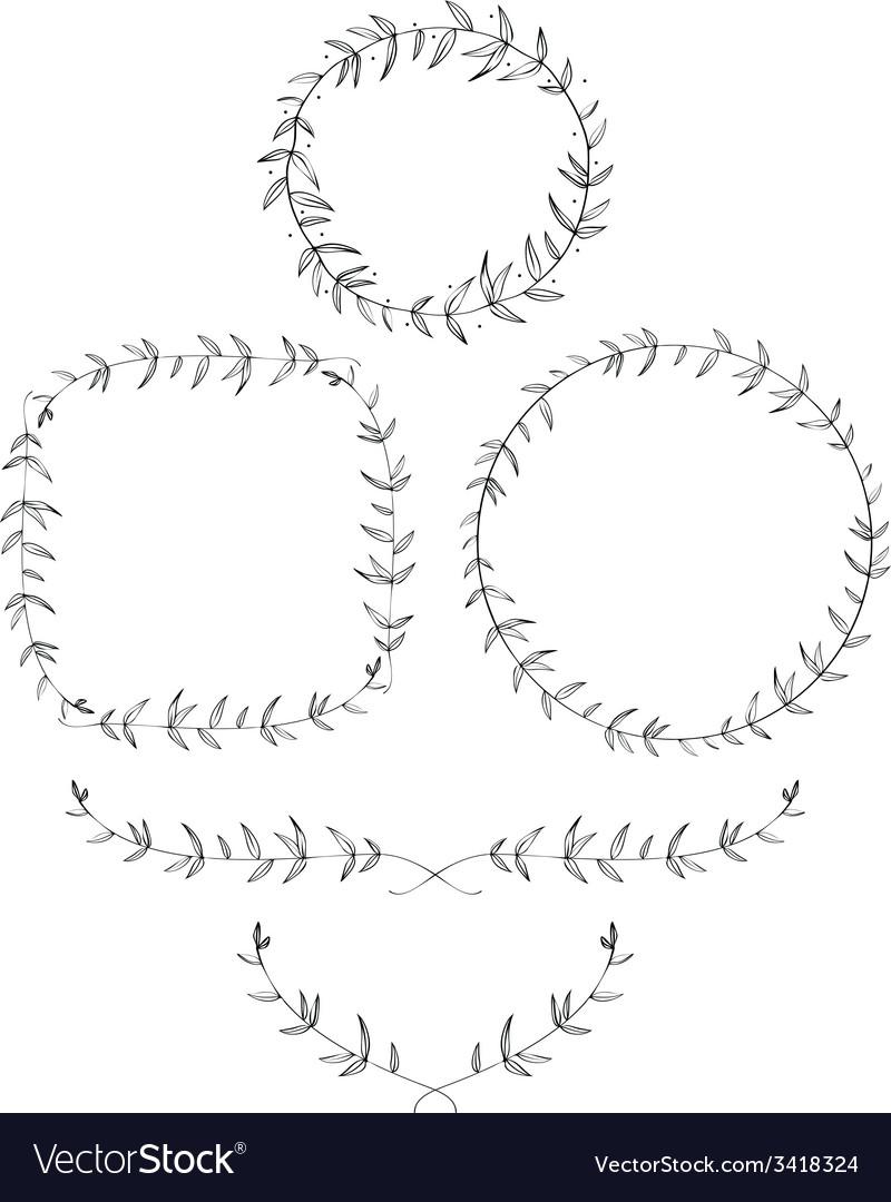 Olive Leaf Laurels and Wreaths vector image
