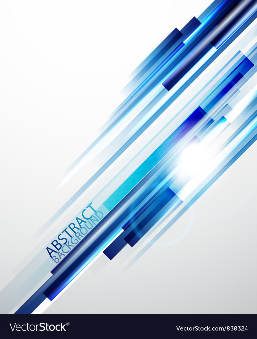 Straight blue lines background vector image