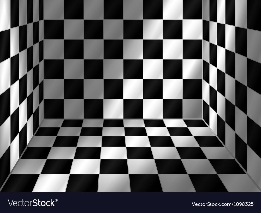Tiled room vector image