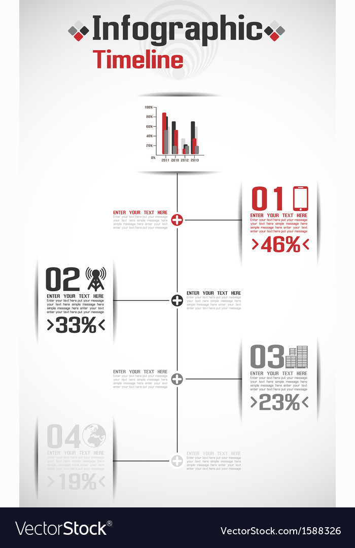 INFOGRAPHIC TIMELINE CONCEPT Vector Image