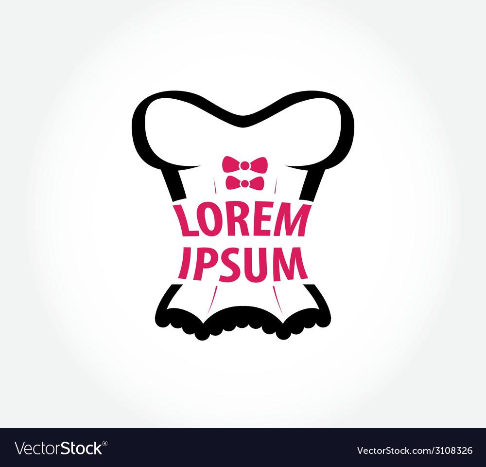 Corset logo design template vector image