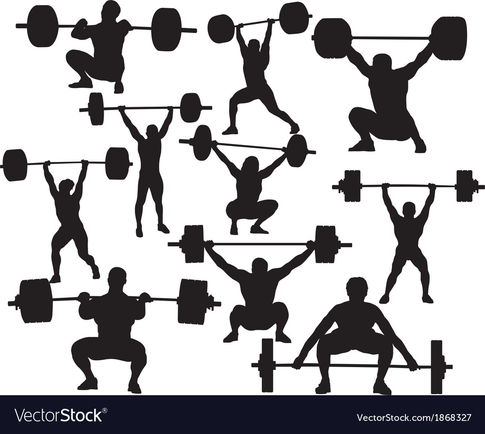 Weightlifter silhouette vector image
