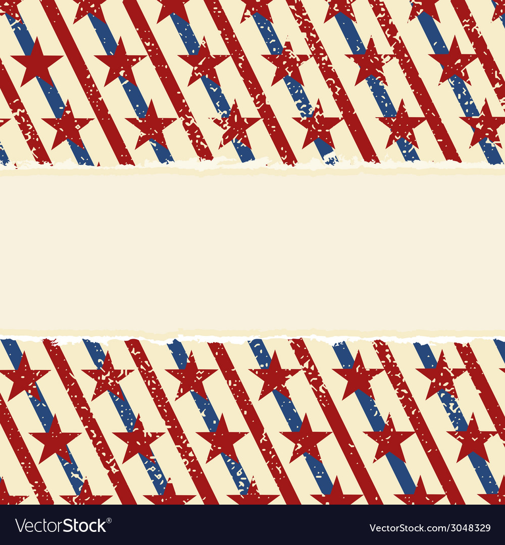 Abstract american striped background vector image