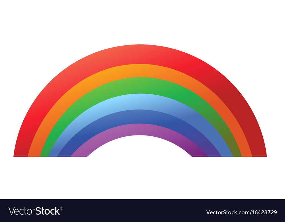 Colorful Rainbow Template Isolated On White Vector Image