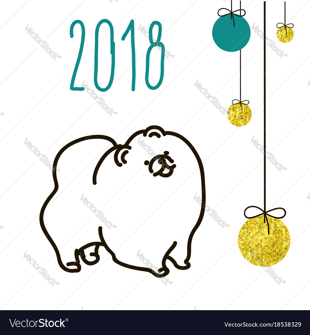 Dog is a symbol of the 2018 chinese new year vector image buycottarizona Gallery
