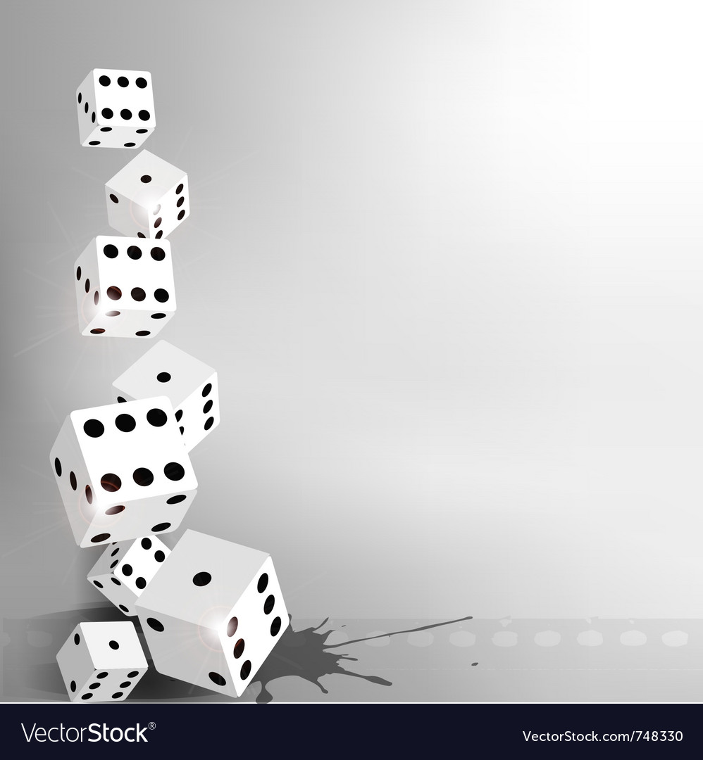Dices background vector image