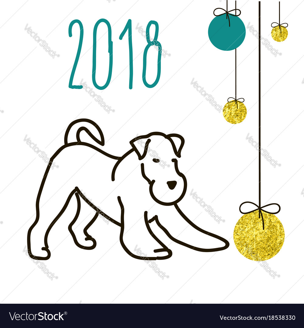 Chinese new year animal symbol themed page border englishfrench dog is a symbol of the 2018 chinese new year vector image meanings of chinese buycottarizona Image collections