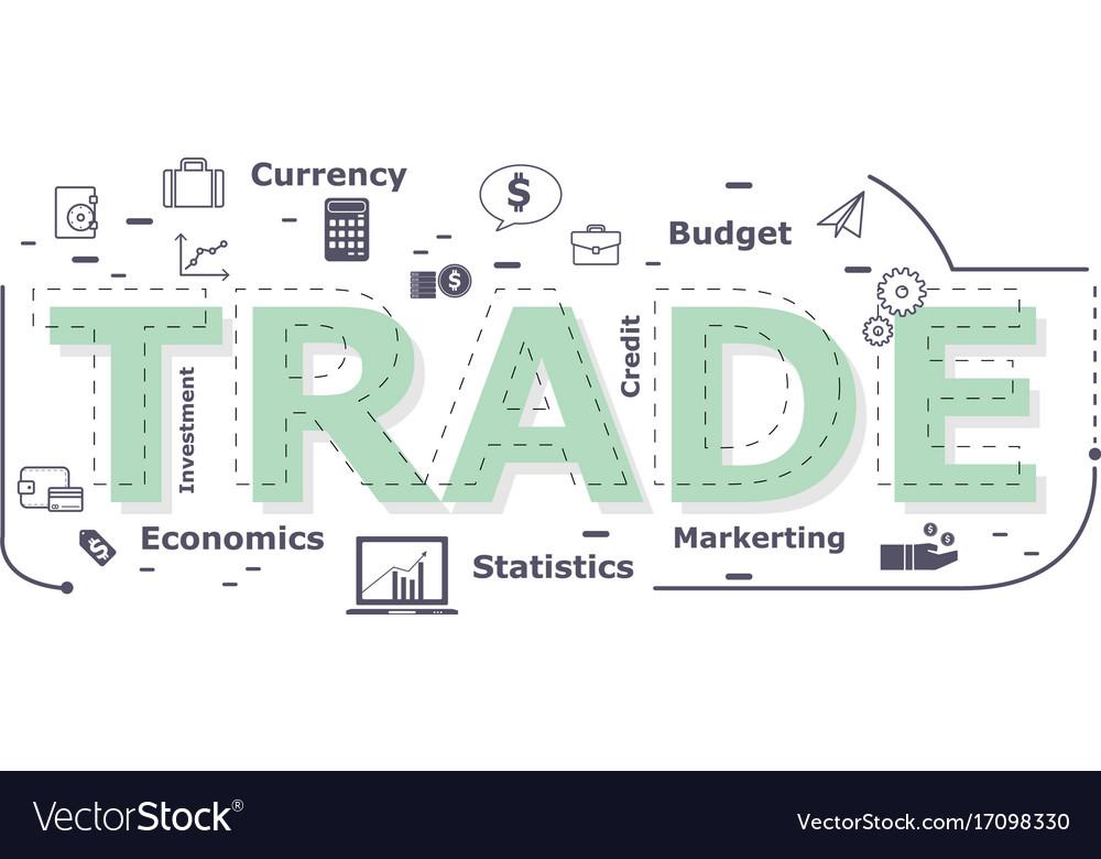 Trade word desigh vector image