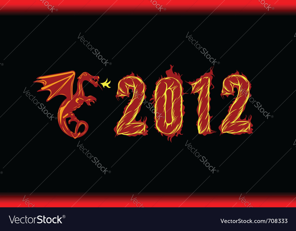 Year 2012 vector image