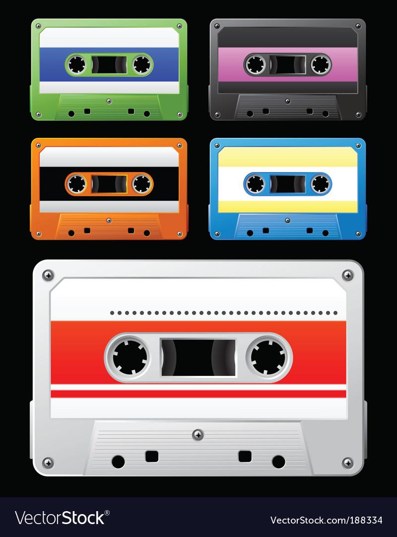 Audio cassette vector image