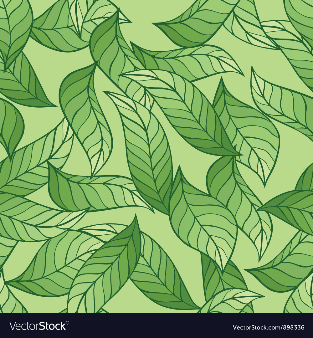Leaves Seamless stylish pattern vector image