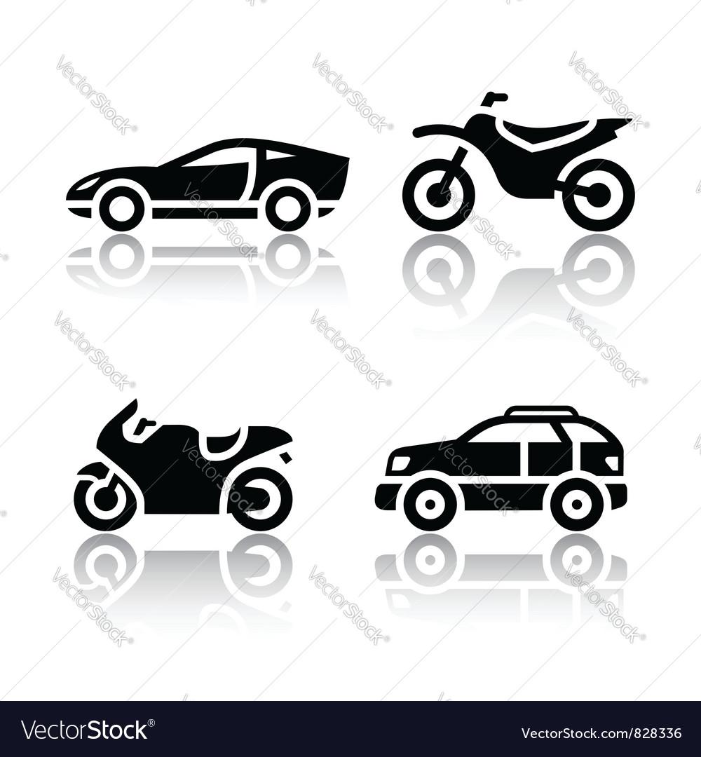 Set of transport icons - sports transportation vector image