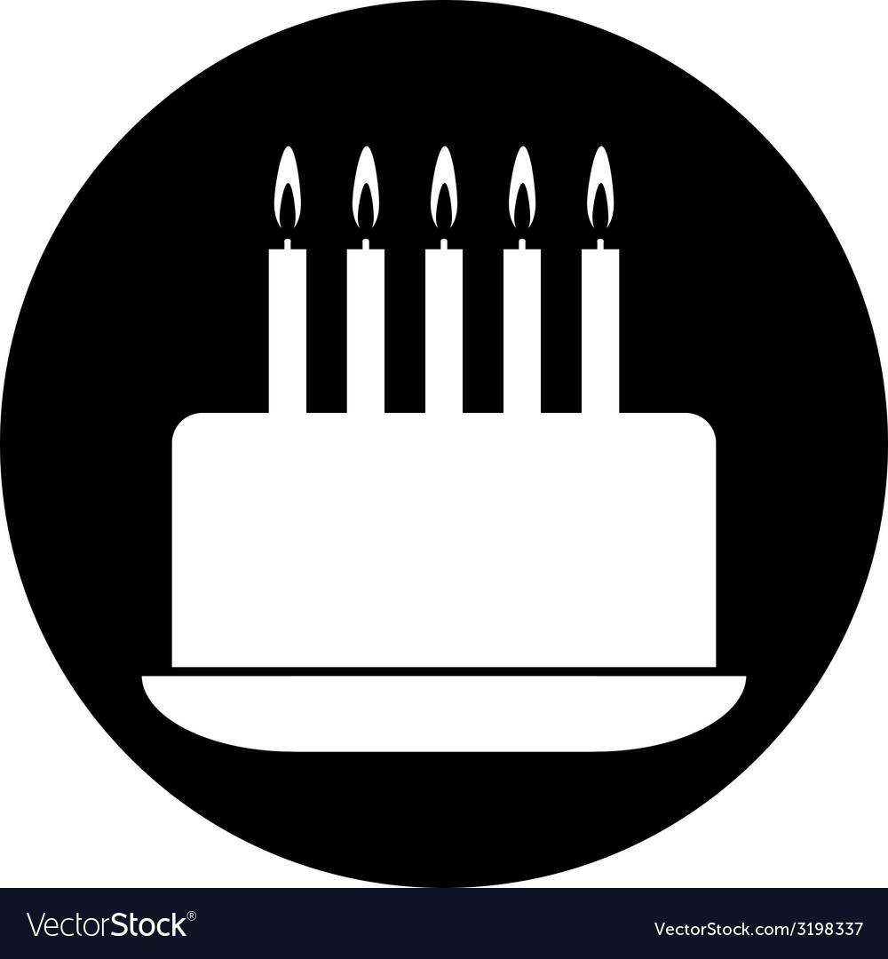 Birthday cake symbol button royalty free vector image birthday cake symbol button vector image buycottarizona
