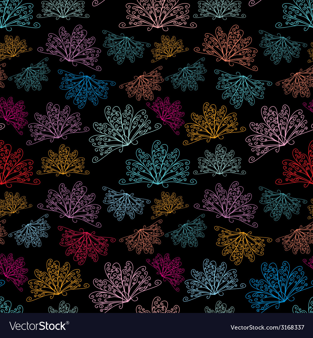 Night abstract pattern vector image