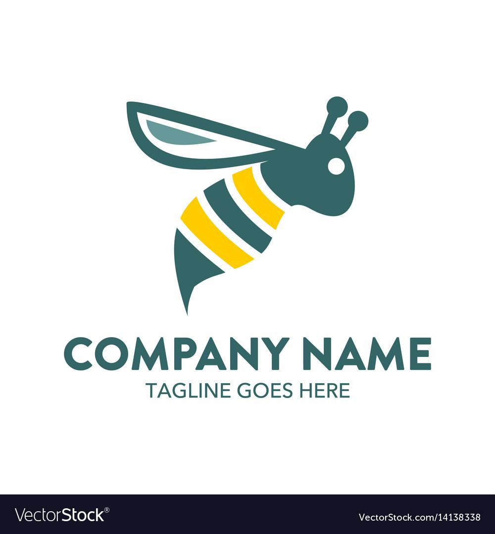 Bee logo-18 vector image