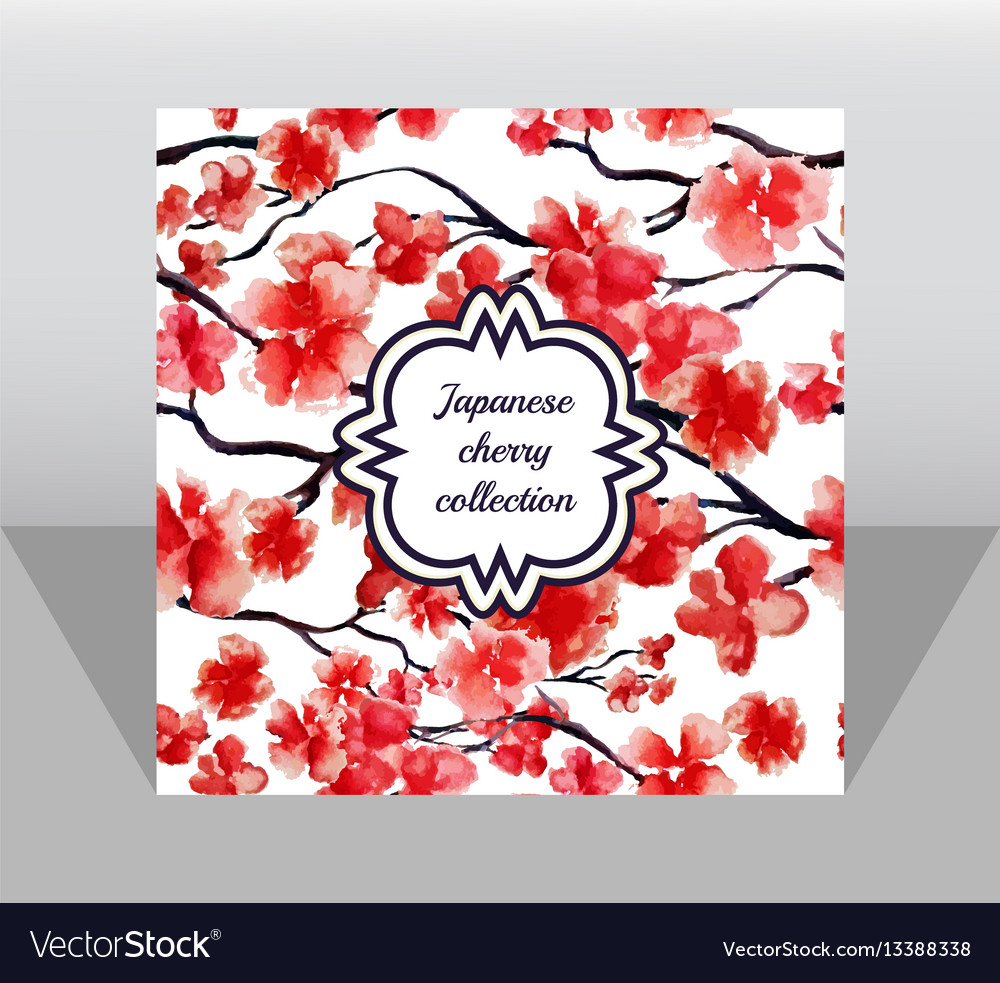Square paper page template in flat style japanese vector image