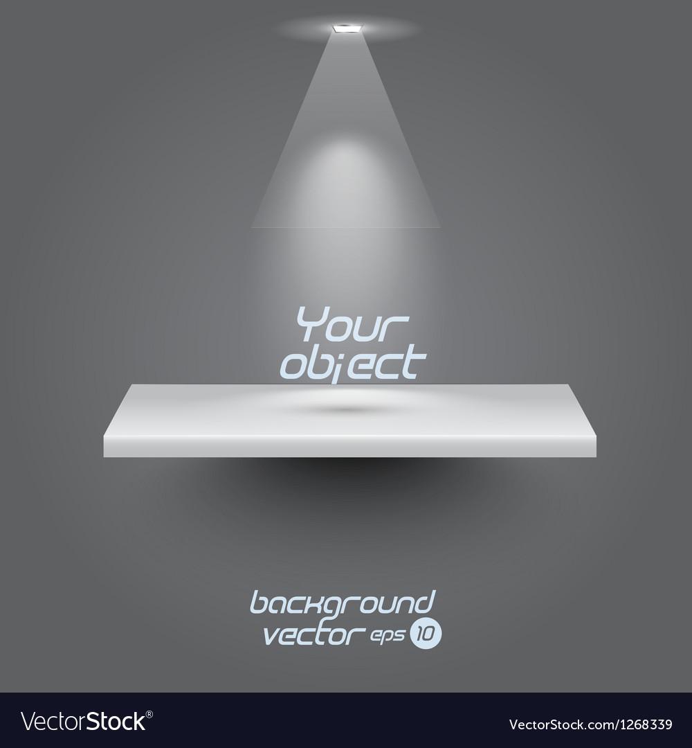 Presentacion shelf Vector Image