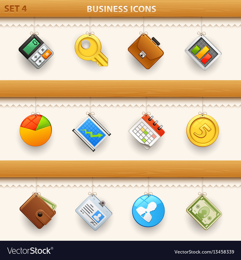 Hung icons - set 4 vector image