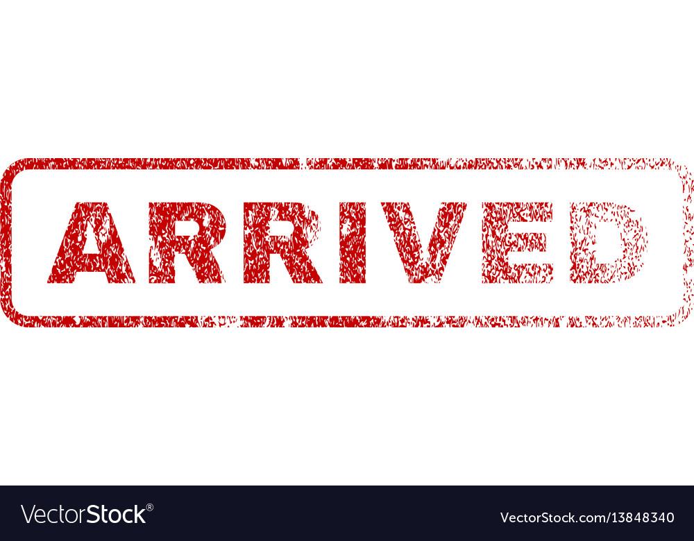 Arrived rubber stamp vector image