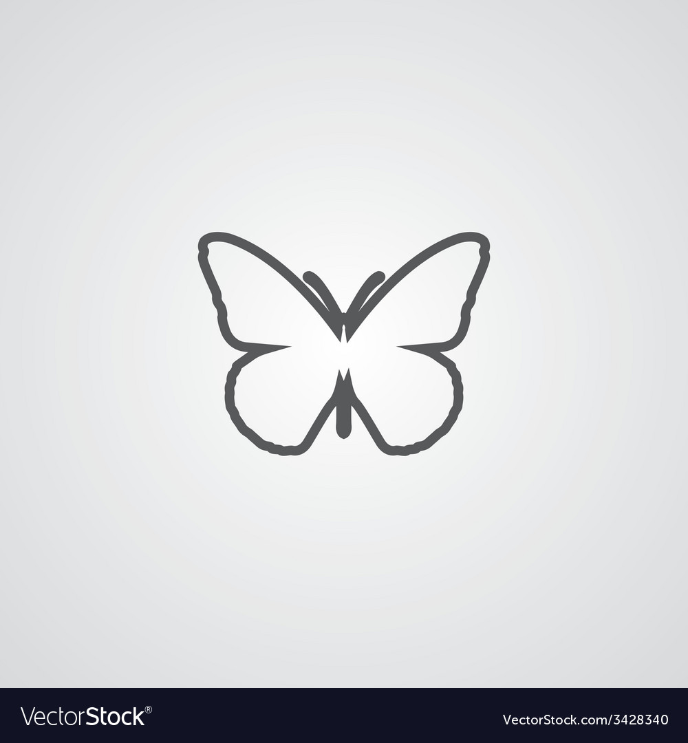 Butterfly outline symbol dark on white background vector image butterfly outline symbol dark on white background vector image biocorpaavc Images